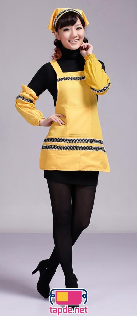 Tạp dề thời trang màu vàng