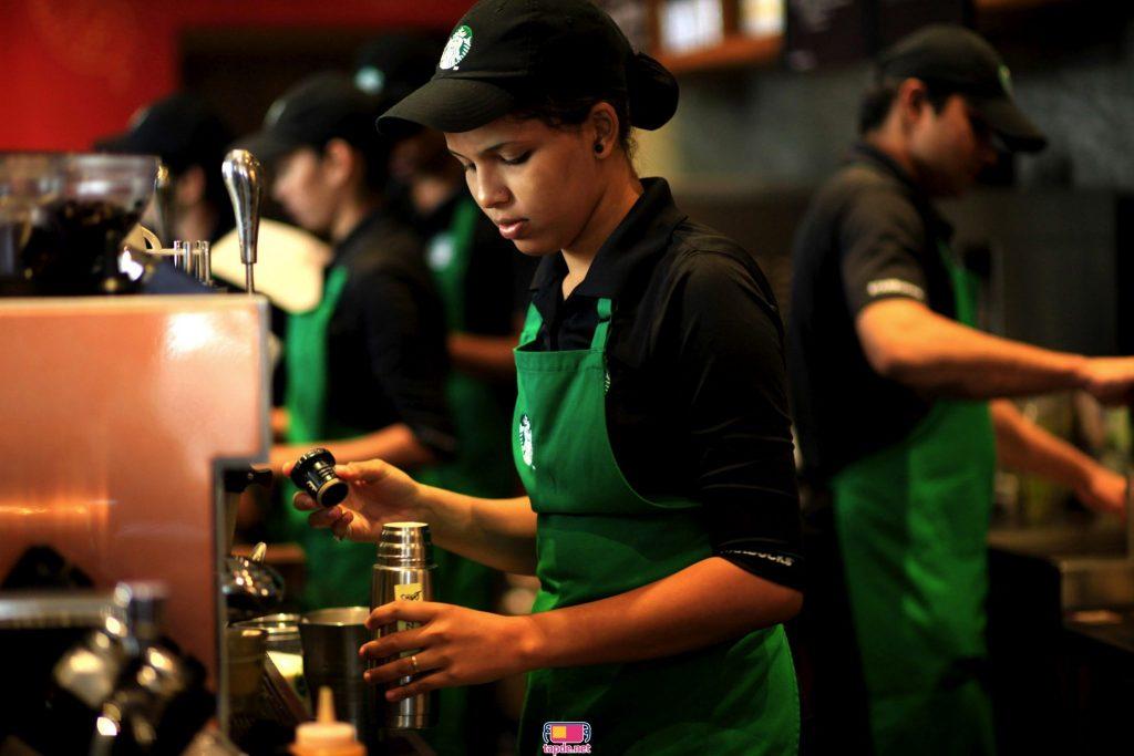 Mũ Nón Tạp dề Cafe Starbucks