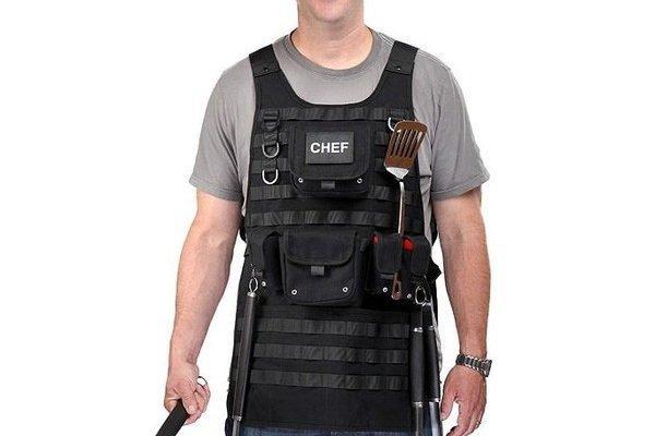 Tạp dề nướng thịt dạng áo chống đạn